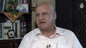 """רשאד עומרי, עורך המקומון החיפאי בשפה הערבית """"אל-מדינה"""" (צילום מסך)"""
