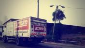 """משאית הפצה של """"מעריב"""" (צילום: שוקי טאוסיג)"""