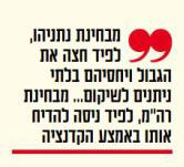 """מצד אחד, ומצד שני (ציטוט מודגש מטור הפרשנות של מתי טוכפלד היום ב""""ישראל היום"""")"""