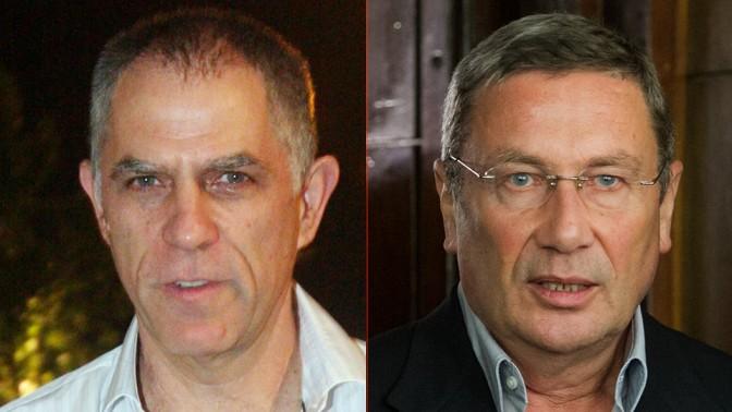 """איש העסקים נוחי דנקנר (מימין) ומו""""ל """"ידיעות אחרונות"""" ארנון (נוני) מוזס (צילומים: אריק סולטן ורוני שיצר)"""