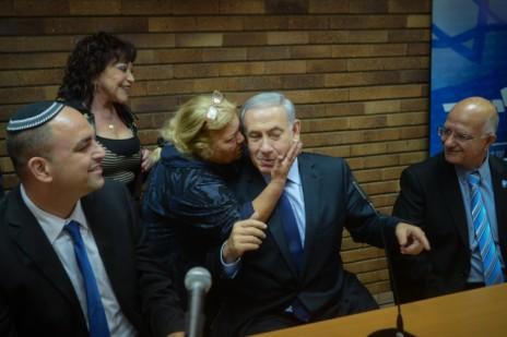 בנימין נתניהו במסיבת עיתונאים שערך במצודת-זאב, 11.12.14 (צילום: בן קלמר)