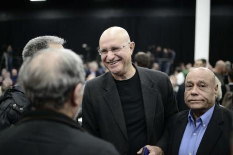 אבישי ברוורמן בכנס של מפלגת העבודה, יממה לפני שהודיע על פרישתו. תל-אביב, 14.12.14 (צילום: תומר נויברג)