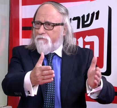 """חיים שיין מתראיין באולפן """"ישראל היום"""" (צילום מסך)"""