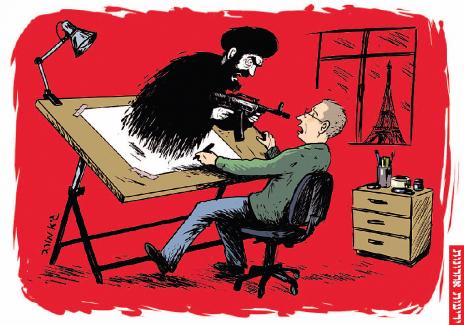 """גיא מורד, """"ידיעות אחרונות"""", תגובה לטבח הקריקטוריסטים בפריז, 8.1.14"""