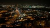 מבט על העיר חיפה ועל אזורי התעשייה שבתחומה בשעת לילה. 5.6.14 (צילום: מרים אלסטר)