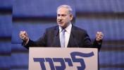 ראש הממשלה בנימין נתניהו נואם בועידת הליכוד בתל-אביב, 5.1.15 (צילום: תומר נויברג)
