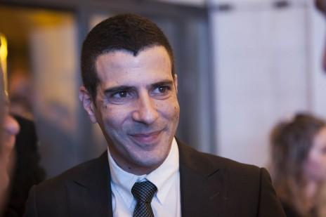 שרון גל, ממועמדי מפלגת ישראל-ביתנו לכנסת, אתמול באירוע הצגת הרשימה (צילום: יונתן זינדל)