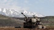"""תותח צה""""לי מול גבול לבנון, אתמול (צילום: דובר צה""""ל)"""