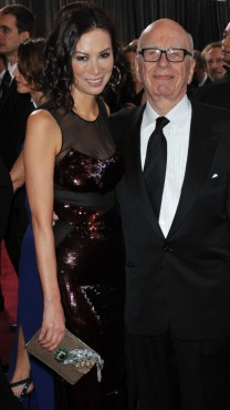 רופרט מרדוק עם אשתו לשעבר, ונדי דנג (צילום: שאטרסטוק)