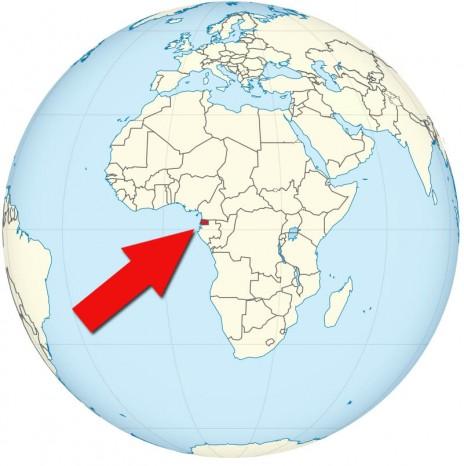 גיניאה המשוונית על מפת אפריקה (מפה: TUBS, רשיון cc-sa-3.0)