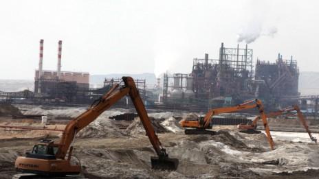 מפעלי ים-המלח של חברת כימיקלים-לישראל (צילום: יוסי זמיר)