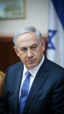 ראש הממשלה בנימין נתניהו, 1.2.15 (צילום: אלכס קולומויסקי)