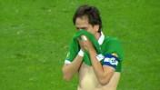 יוסי בניון פורץ בבכי אחרי שער הניצחון שכבש מול מכבי נתניה (צילום מסך)