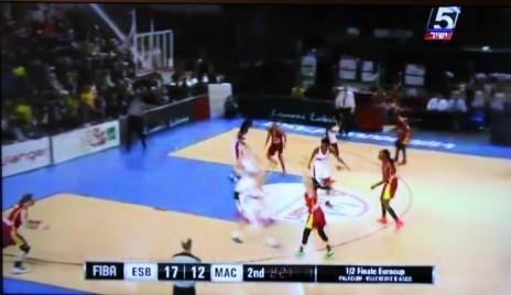 השידור המטושטש בערוץ הספורט של משחק כדורסל הנשים