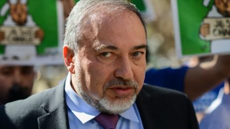 שר החוץ אביגדור ליברמן, 5.2.2015 (צילום: בן קלמר)