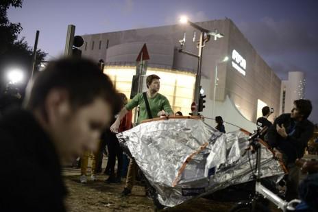 שדרות רוטשילד, תל-אביב, אמש (צילום: תומר נויברג)