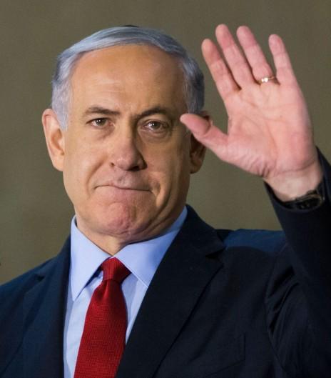 בנימין נתניהו באירוע בחירות בבית-הכנסת הגדול בירושלים, 5.3.15 (צילום: יונתן זינדל)