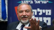 Avigdor Liberman speaks at a press conference at the Knesset. Jerusalem, May 4, 2015. Photo by Miriam Alster