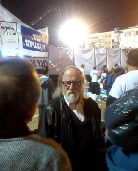 """חיים שיין. כיכר רבין, תל-אביב, 15.3.15 (צילום: איתמר ב""""ז)"""