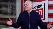 """אהרון לפידות, 2015 (צילום מסך מתוך שידורי אולפן """"ישראל היום"""")"""