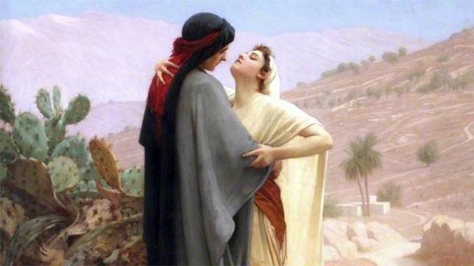 רות ונעמי (פרט), פיליפ המורגנס קלדרון, 1886 (נחלת הכלל)