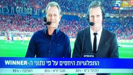 ערוץ הספורט בתוכן שיווקי שמקדם את הימורי הווינר, השבוע בגמר הגביע (צילום מסך)