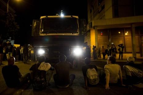 בני העדה האתיופית מפגינים בירושלים נגד אלימות משטרתית, 30.4.15 (צילום: יונתן זינדל)