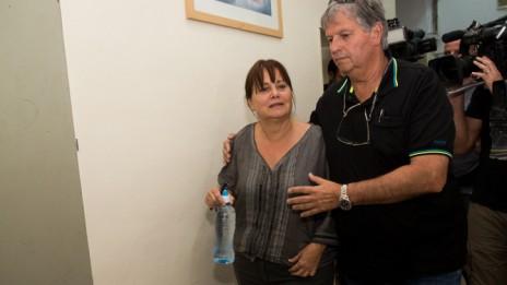 רות דוד, פרקליטת מחוז תל-אביב לשעבר, מגיעה להארכת מעצרה, 6.5.15 (צילום: יונתן זינדל)