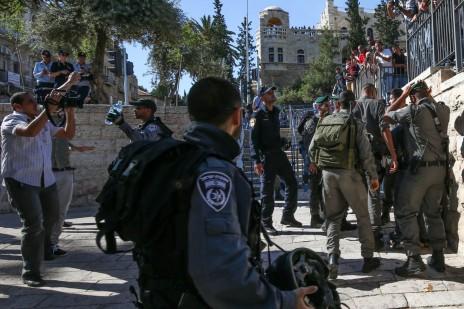 """שער שכם, ירושלים, 17.5.15 (צילום: """"העין השביעית"""")"""
