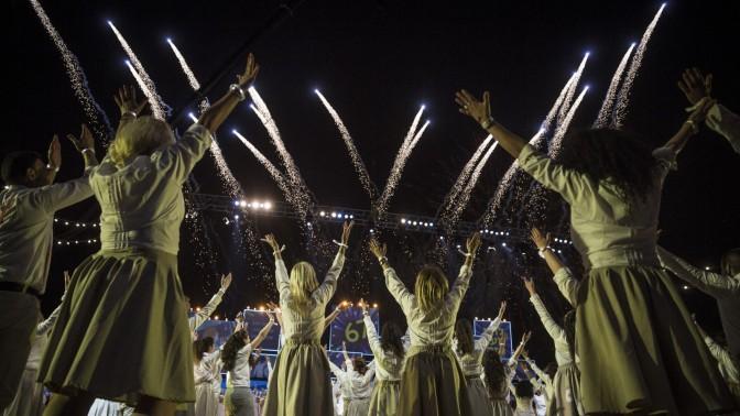 טקס יום העצמאות בהר הרצל, ירושלים, 22.4.15 (צילום: הדס פרוש)