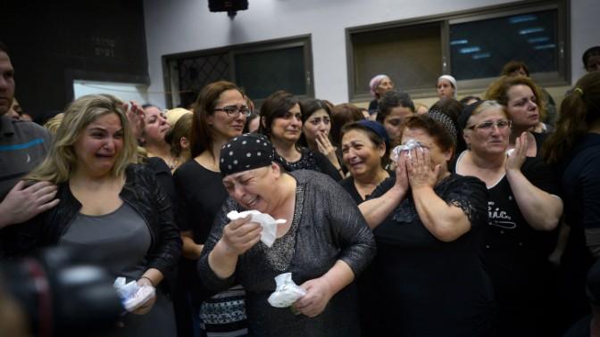 הלווייתו של דני גונן, שנרצח בידי פלסטיני, 20.6.2015 (צילום: פלאש 90)