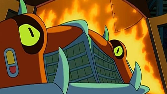 """מכונית רצחנית (צילום מסך מתוך הסדרה """"Futurama"""")"""