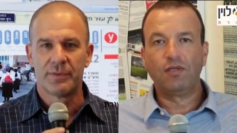 איתן לוין (מימין) וממי פאר, הבעלים של משרד יחסי-הציבור פאר-לוין (צילומי מסך מתוך ערוץ היוטיוב של פאר-לוין)