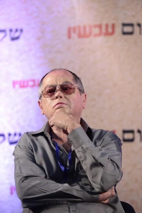 אמנון אברמוביץ' בכנס של שלום-עכשיו בתל-אביב, 24.7.15 (צילום: תומר נויברג)