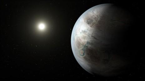 """הדמיה של כוכב הלכת קפלר 452b (איור: נאס""""א)"""