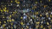 """אוהדי בית""""ר ירושלים באצטדיון טדי בירושלים (צילום: יונתן זינדל)"""