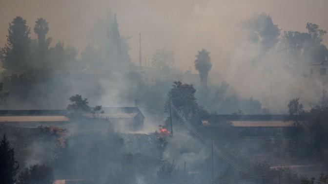 שריפה במושב אבן-ספיר, סמוך לירושלים, 2.8.15 (צילום: יונתן זינדל)