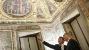 """ראש הממשלה בנימין נתניהו עם ראש ממשלת איטליה מתיאו רנצי ב""""פלאצו וקיו"""" בפירנצה, 29.8.15 (צילום: קובי גדעון, לע""""מ)"""