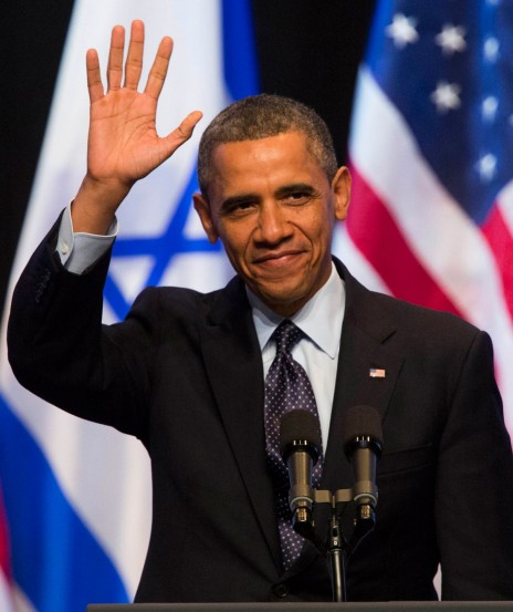 נשיא ארצות-הברית, ברק אובמה. ירושלים, 21.3.13 (צילום: יונתן זינדל)