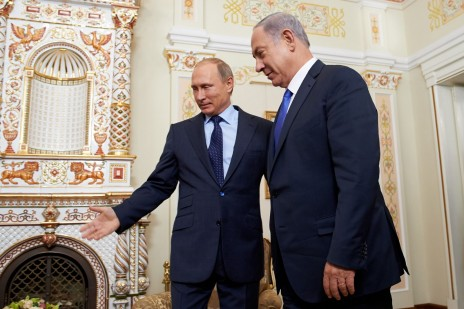ראש ממשלת ישראל בנימין נתניהו עם נשיא רוסיה ולדימיר פוטין. מוסקבה, 21.9.15 (צילום: שגרירות ישראל במוסקבה)
