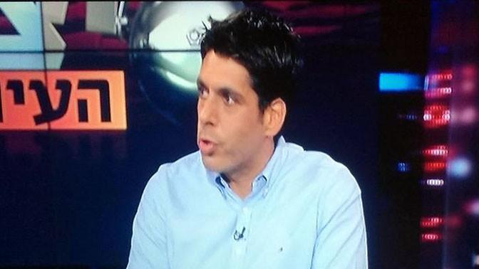 """נדב צנציפר בדיון על ביקור שחקני הנבחרת בקזינו ב""""יציע העיתונות"""" (צילום מסך מערוץ הספורט)"""