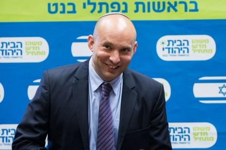 נפתלי בנט בכנס של מפלגת הבית-היהודי. ירושלים, 27.7.15 (צילום: יונתן זינדל)