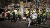 זירת הפיגוע ברחוב מלכי ישראל בירושלים, 13.10.15 (צילום: פלאש 90)