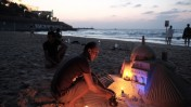 חוף הים של תל-אביב-יפו, 17.10.15 (צילום: תומר נויברג)