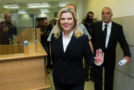 שרה נתניהו מגיעה לבית-הדין לעבודה בירושלים, 29.10.15 (צילום: יונתן זינדל)