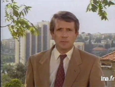 שרל אנדרלין מדווח מירושלים, 1988 (צילום מסך)
