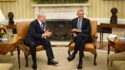 """נשיא ארה""""ב ברק אובמה וראש ממשלת ישראל בנימין נתניהו, הבית הלבן, וושינגטון, 9.11.15 (צילום: חיים צח, לע""""מ)"""