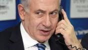 ראש הממשלה, בנימין נתניהו, משוחח בטלפון. תל-אביב, 17.1.13 (צילום: גדעון מרקוביץ)