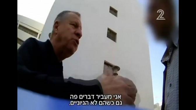 דני נוימן בתחקיר של חיים ריבלין בערוץ 2 (צילום מסך)