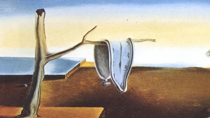 """סלבדור דאלי, """"התמדתו של הזיכרון"""", 1931, פרט"""